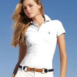 Ralph Lauren the skinny polo white polo  large